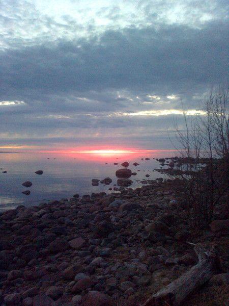 залив на закате