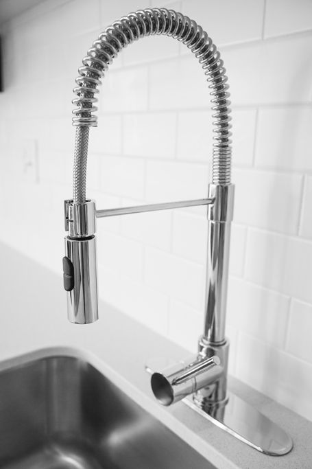 Sleek chrome fixtures add to the clean, effortless elegance at Aria. Aria on L in Northeast Washington DC | WC Smith #Apartments | NoMa #Rentals ariaonl.com