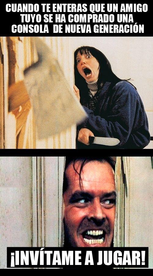 Memes para facebook: Cuando un amigo tuyo tiene consola nueva →…