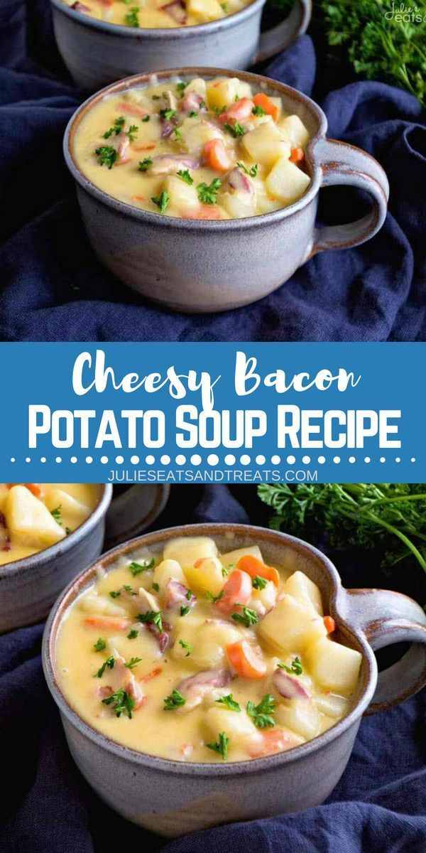 Comforting Delicious Easy Soup Recipe Full Of Potatoes Bacon Cheese Grab A Big Bowl And War Winter Soup Recipe Easy Winter Soup Recipes Easy Winter Soups
