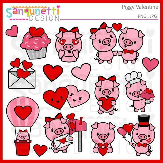 Valentine Clipart Valentines Day Pig Clipart Pig Planner Sticker Planner Sticker Clipart Insta Birthday Card Drawing Valentines Art Valentines Day Clipart