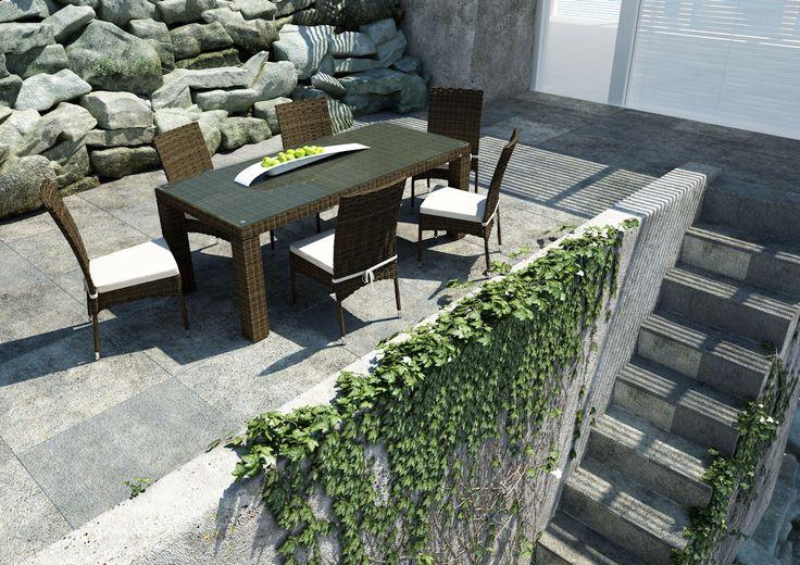 Zahradní židle z umělého ratanu Strato