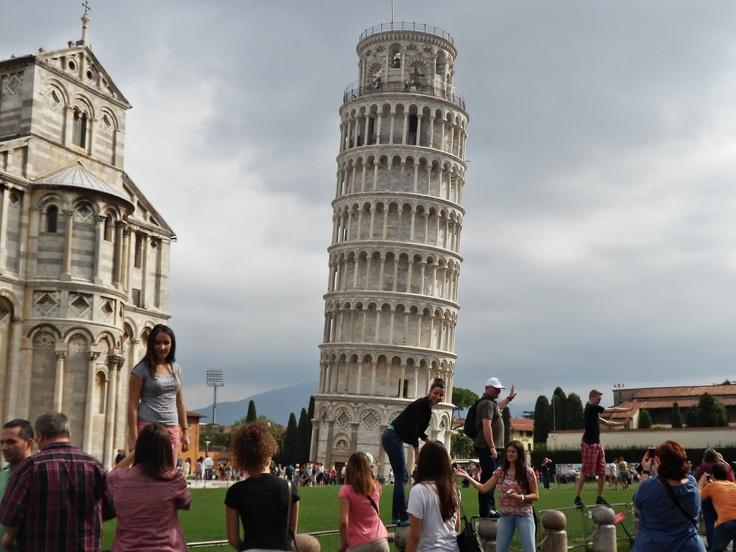 každý chce foto se šikmou věží :)