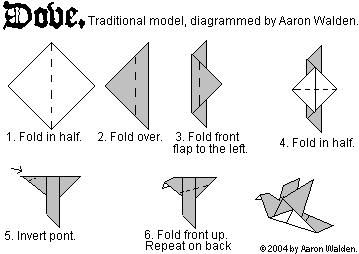 easy origami dove printable instructions