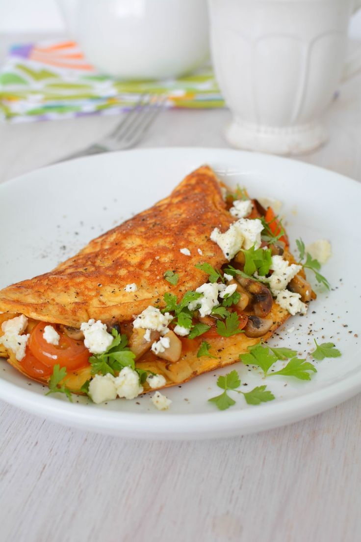 Feta and Spinach Omelette recipe. Make this as a treat for the weekend or a quick and easy mid week meal.