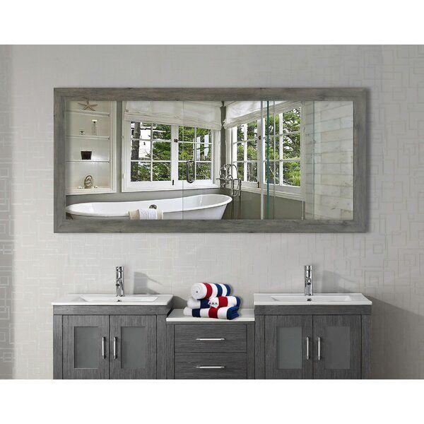 Distressed Bathroom Vanity, Landover Rustic Distressed Bathroom Vanity Mirror