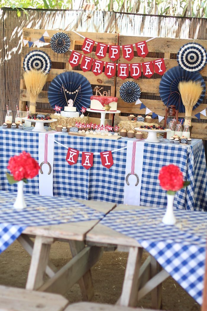 Cowboy Western Birthday Party Via Kara S Party Ideas