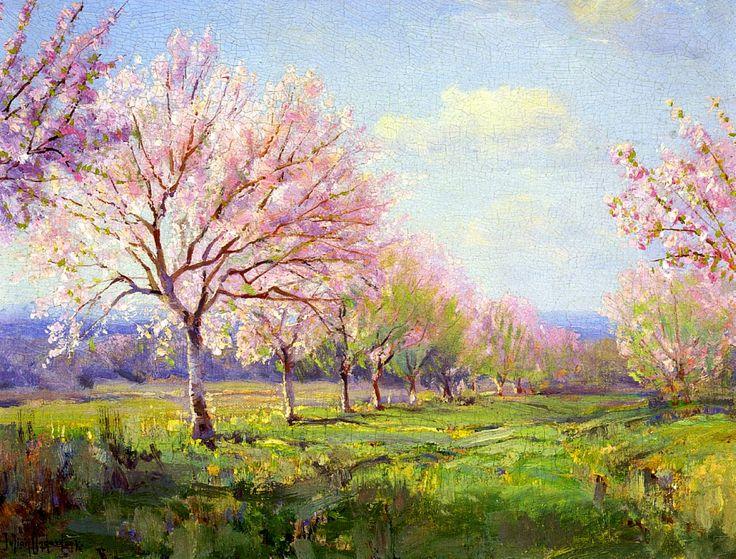 Robert Julian Onderdonk_1915_Персиковый сад на ферме Майверик (Peach Orchard on Mavericks Farm)
