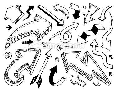 Doodle Arrows Royalty Free Stock Vector Art Illustration