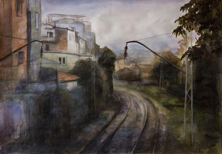 Setenay Alpsoy  2012 50 x 70 cm. Kağıt üzerine karışık teknik / Mixed media on paper.