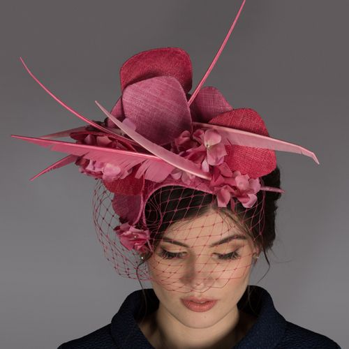 This two day workshop will introduce innovative as well as traditional millinery techniques. Learn creative ways to manipulate, fold and shape sinamay. Pick up tips on how to cut feathers for a modern and architectural look. Then integrate the sinamay and feathers for an individual headpiece. Time permitting there may be a bit of flower