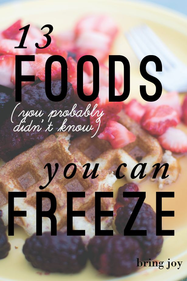 What foods can you freeze? 13 foods you probably didn't know you could freeze (including tofu, almond milk, & watermelon!) #frugal // bring joy