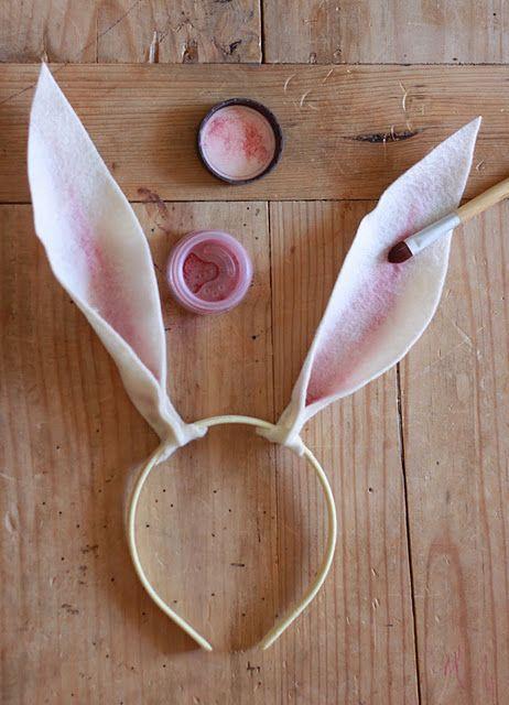 Orelhas de coelhinho para usar na Páscoa!                                                                                                                                                      Mais