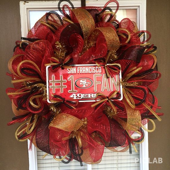 17 Best Ideas About 49ers Wreath On Pinterest Wreath