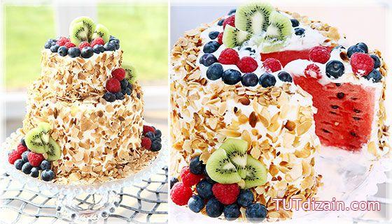 Торт без выпечки «Арбузный» » Планета рукоделия
