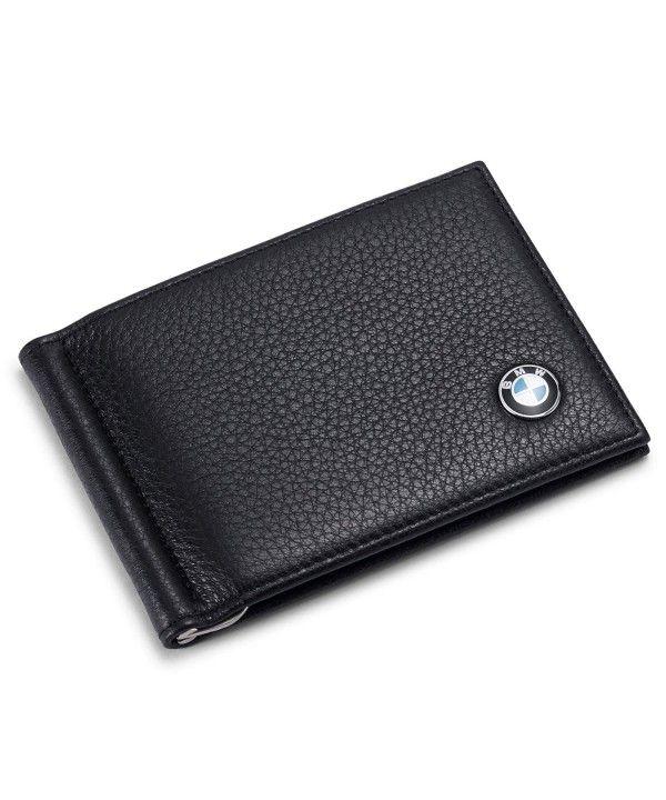 New Men/'s Genuine Leather Bifold ID Credit Card Money Holder Wallet Black