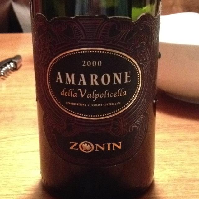 amarone Zonin 2000 still incredibly fruity and fresh