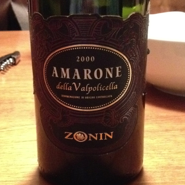 amarone Zonin 2000 still incredibly fruity and fresh