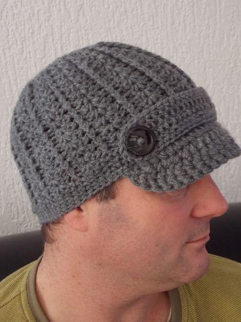 Gratis patroon van muts met klep / newsboy hat voor volwassenen
