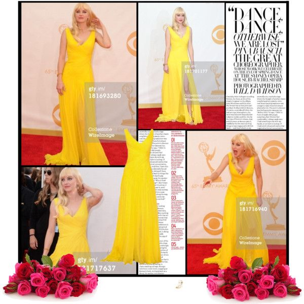 Anna Faris arrives at the 65th Annual Primetime Emmy Awards held at Nokia Theatre L.A. Live on September 22, 2013 in Los Angeles, California. by alessia3012 on Polyvore featuring Jimmy Choo, FARIS and Monique Lhuillier