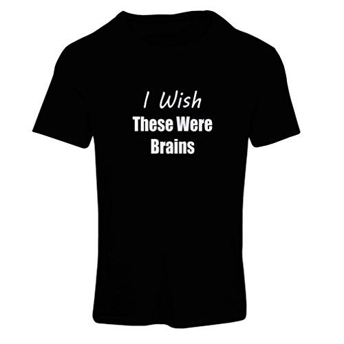N4079F I wish these were brains funny gift female short Sleeve tshirt L Black Fluorescent >>> Click image to review more details.