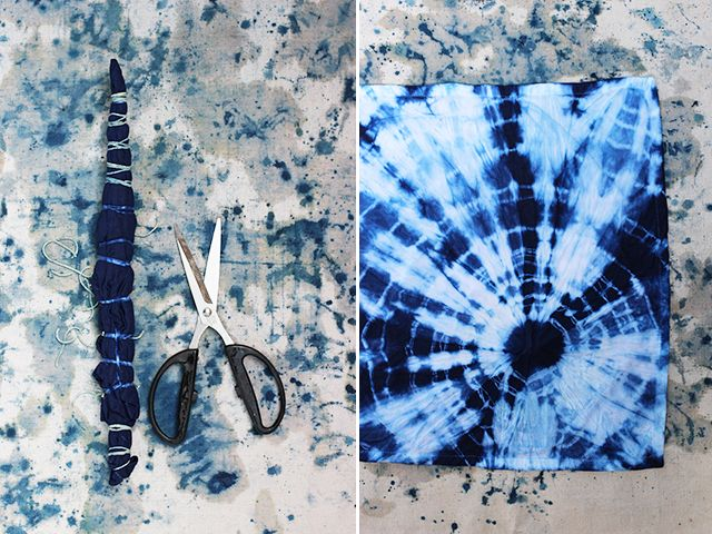 DIY Shibori. Totally gonna do this, love it.