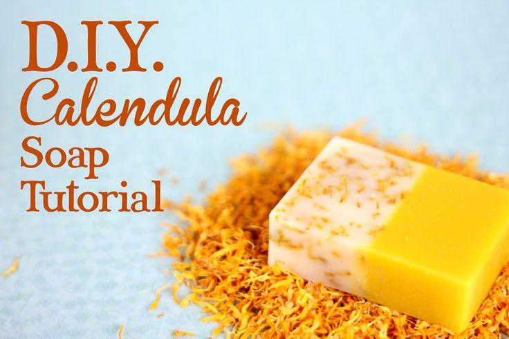 Sunshine Soap Video Tutorial using Orange Essential Oil and Dried Calendula Petals