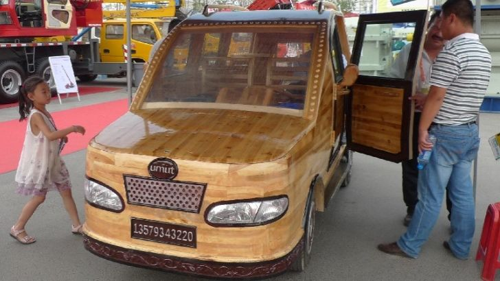Hand-Made EV Carved Entirely Out of WoodHandmade Wooden, China Unveiled, Wooden Electric, Cars 101, Сайта Carnewschinacom, Carvings Entire, China Wooden, Wood Cars, Electric Cars