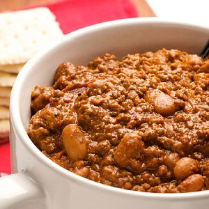 """Texas Chili: """"This chili recipe has been handed down in our Texas family for generations. Our best guess is it originated in the second half of the 1800s. It has been modified slightly, but is essentially true to the original. It has not fallen prey to fad ingredients or the desire for heat. It is a great, traditional bowl of Texas chili.The chili was a staple of our household growing up and is as nostalgic for me as any comfort food I know."""" Quote from contributor."""