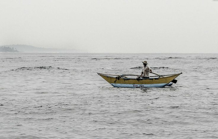 Fisherman near the coast of Sri Lanka.