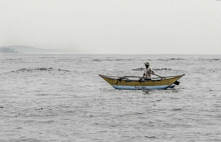 Fisherman near the coast of Sri Lanka.