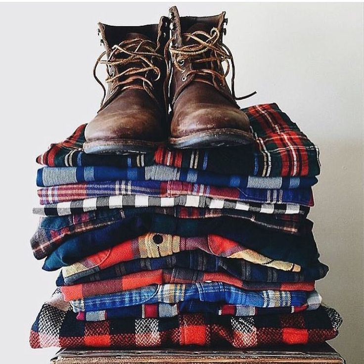 "You can not miss the typical ""lumberjack shirts"""