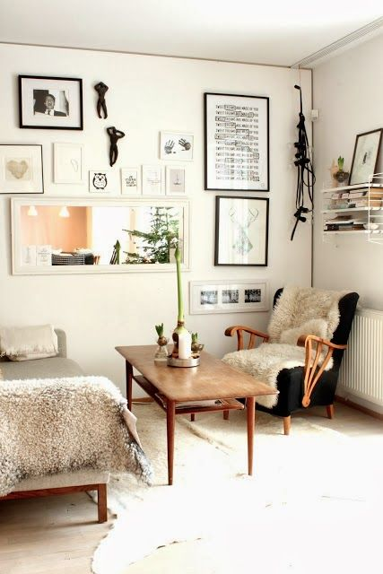 This Gallery wall. The arms on that chair. (from my scandinavian home: My home at Christmas)