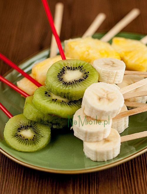 Piruletas de fruta para niños