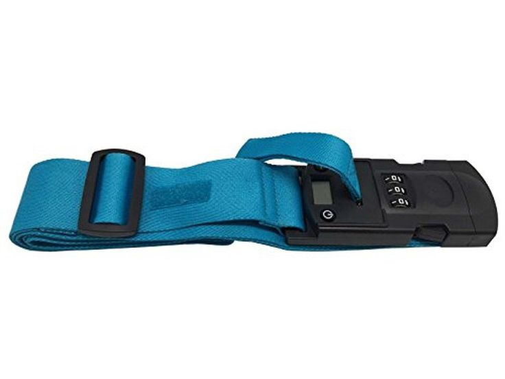 Luggage Mate Weighing Scale Lock & Strap Small Blue Free Grey Wallet tool card for every 2 Strap Purchased - Brought to you by Avarsha.com