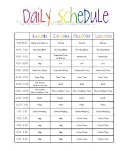 Kids Daily Schedule