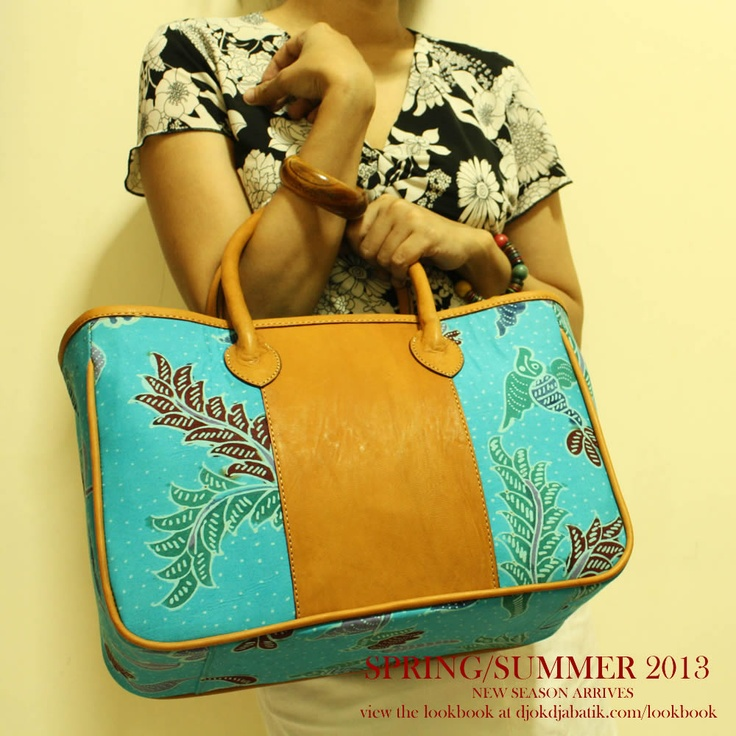 The first teaser of our Spring/Summer 2013 Collection featuring Shinta Baby Blue Madura Batik leather tote. For further viewing, head over to www.djokdjabatik.com/lookbook
