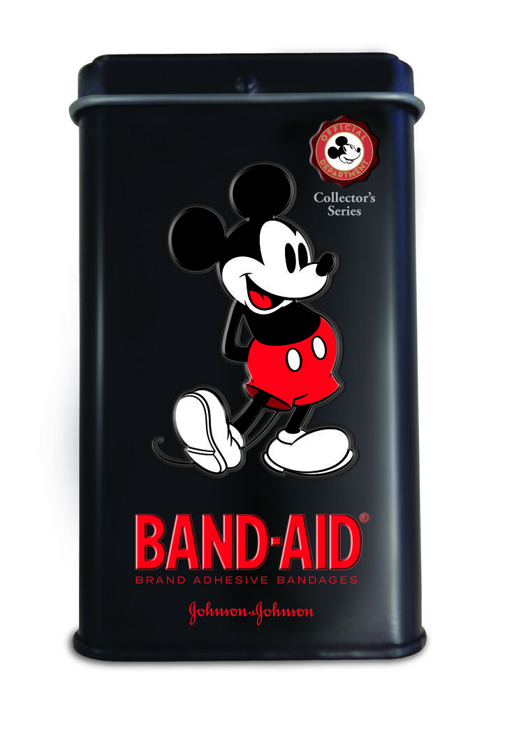 Mickey Mouse limited edition BAND-AID tins & packs