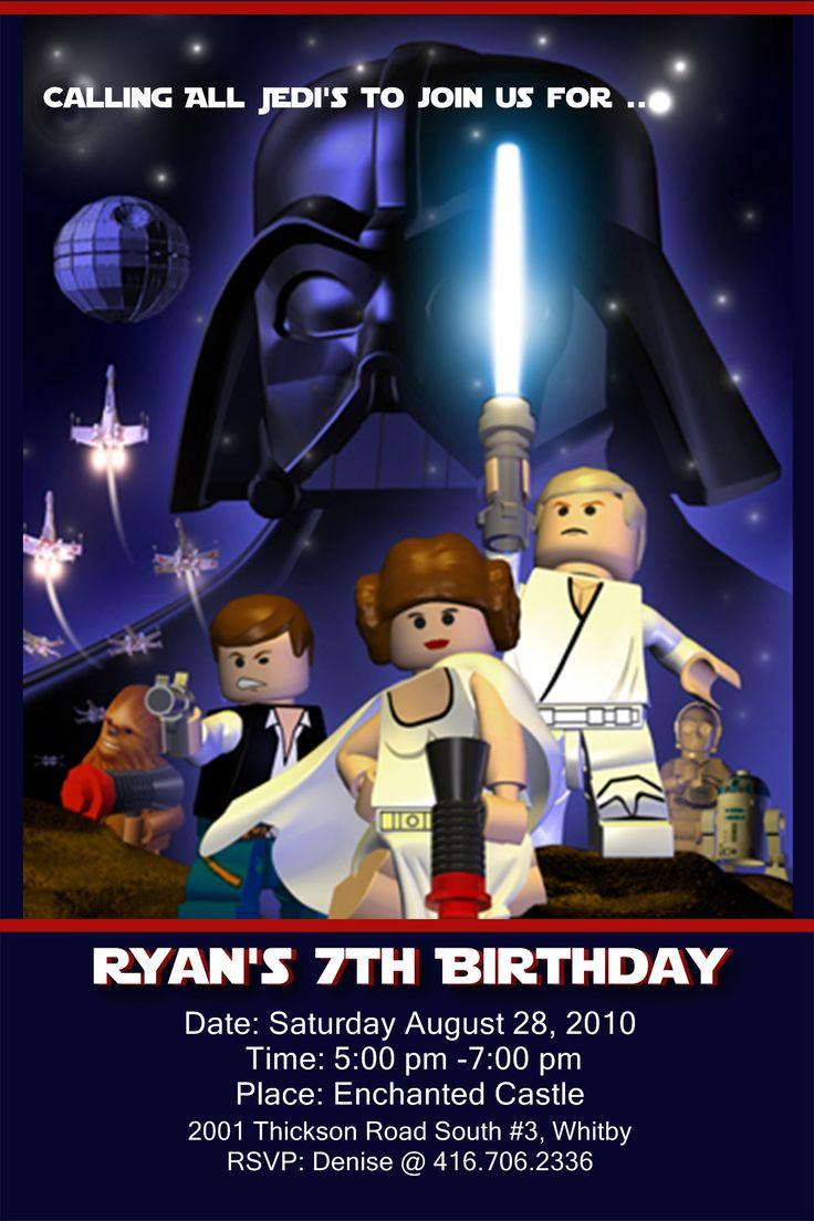 29 best Lego Star Wars Invites images on Pinterest | Lego star wars ...