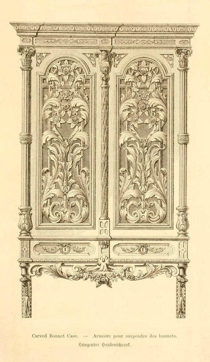 Img dessins meubles mobilier armoire pour suspendre des - Dessin d armoire ...