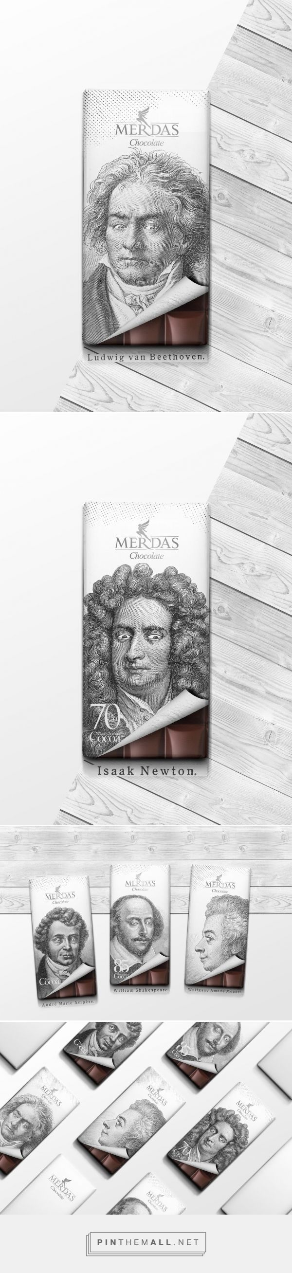 Even legends cannot resist a treat! Merdas Classic Chocolate packaging design by Masoud Rostami - http://www.packagingoftheworld.com/2016/08/merdas-classic-chocolate.html