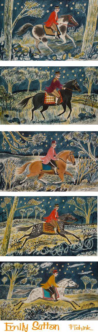 """Night Horsemen"" by Emily Sutton (watercolour)"