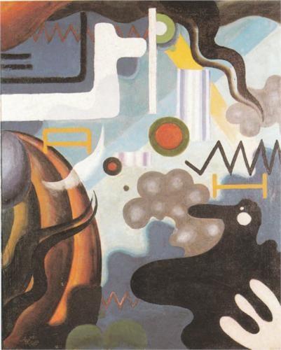 Julius Evola (1898 - 1974) |  Dada | Paesaggio interiore, apertura del diaframma - 1921