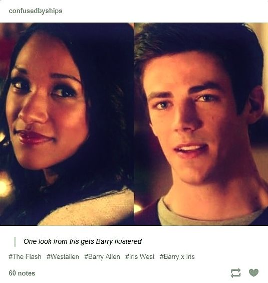The Look Iris gives Barry. The Look Barry gives Iris. Words cannot express how much I love the sweet awkwardness of this moment. Could they BE any more perfect for one another?  |CW||The Flash||Tumblr||WestAllen||Barry Allen||Iris West||TV Shows|