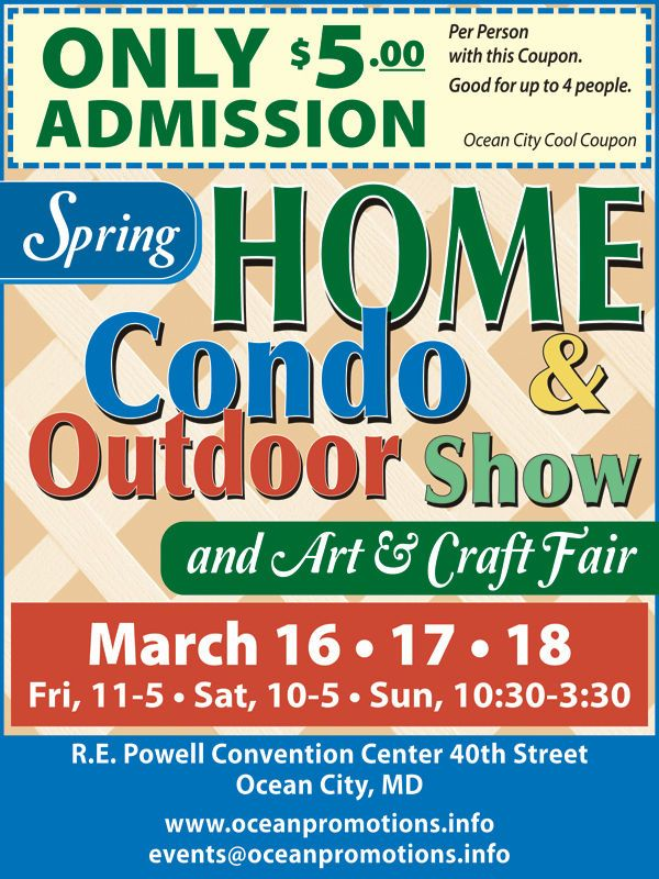 34th Annual Home Condo Outdoor Show and Art and Craft Fair... #CoolCoupons #oceancitycool