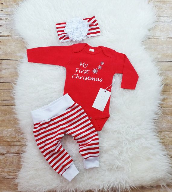 my first christmas baby girl christmas outfit baby first christmas set baby girl clothes newborn christmas outfit candy cane outfit