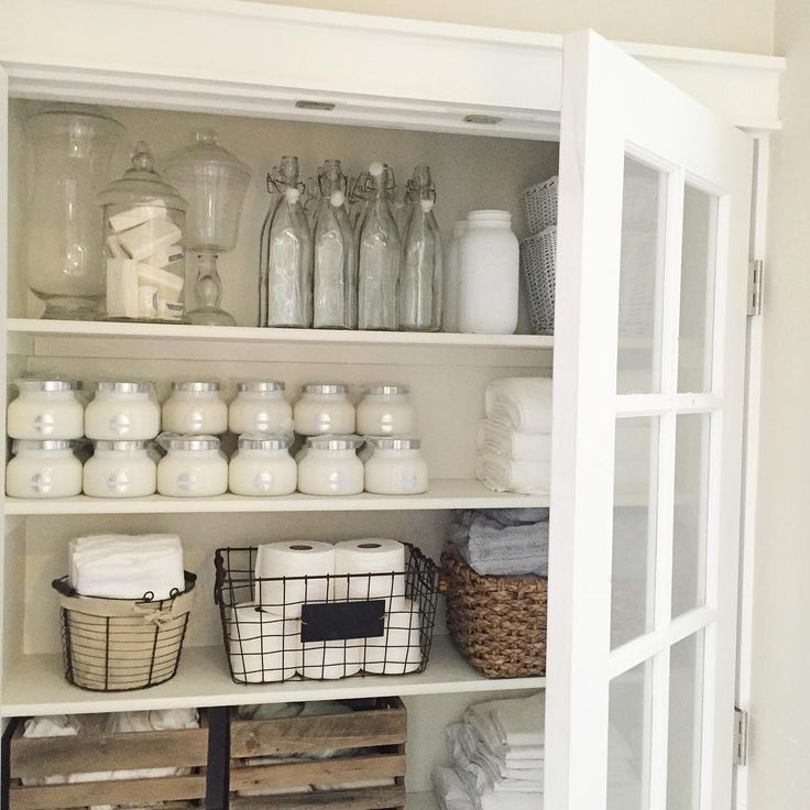 """Katie on Instagram: """"@fortheloveofgray invited me to play along with #textilesontuesdays - what better place than our linen closet. This has been a recent project with the help of my husband. And yes I have a LARGE Stock of volcano candles (we sell them for local pick up only) @hammmadefurniture @ourvintagefarmhouse @yellowprairieinteriors care to play along?"""""""