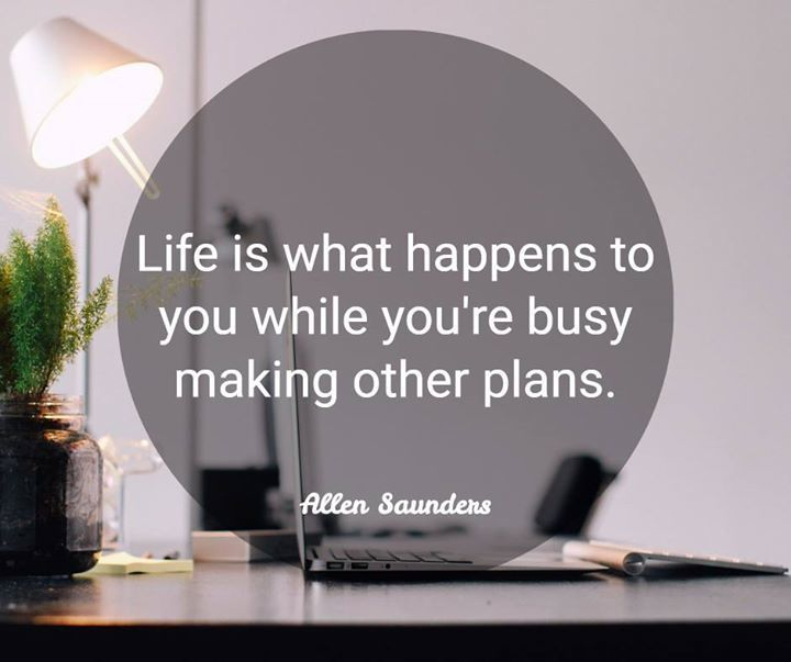Life is what happens to you while you're busy making other plans.  #life #positive #quote https://t.co/FiKtoeeRE8
