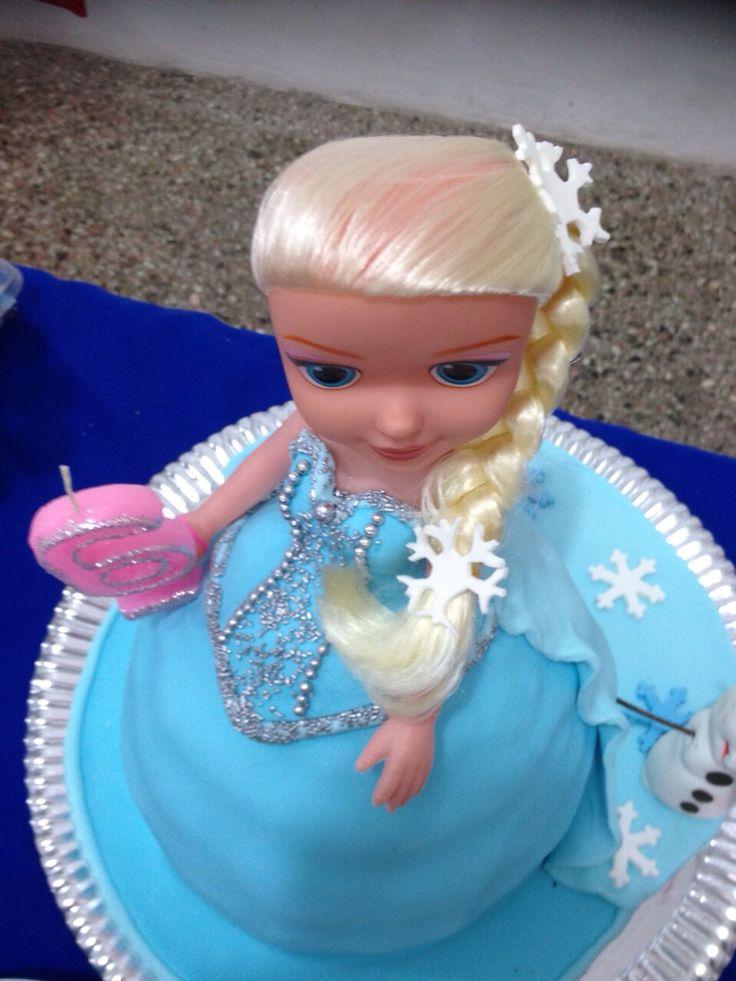 Torta de muñeca de Frozen