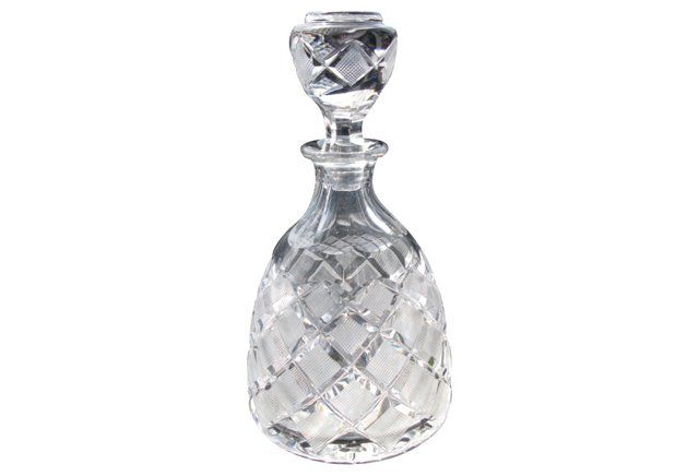 Cut-Crystal Victorian Decanter
